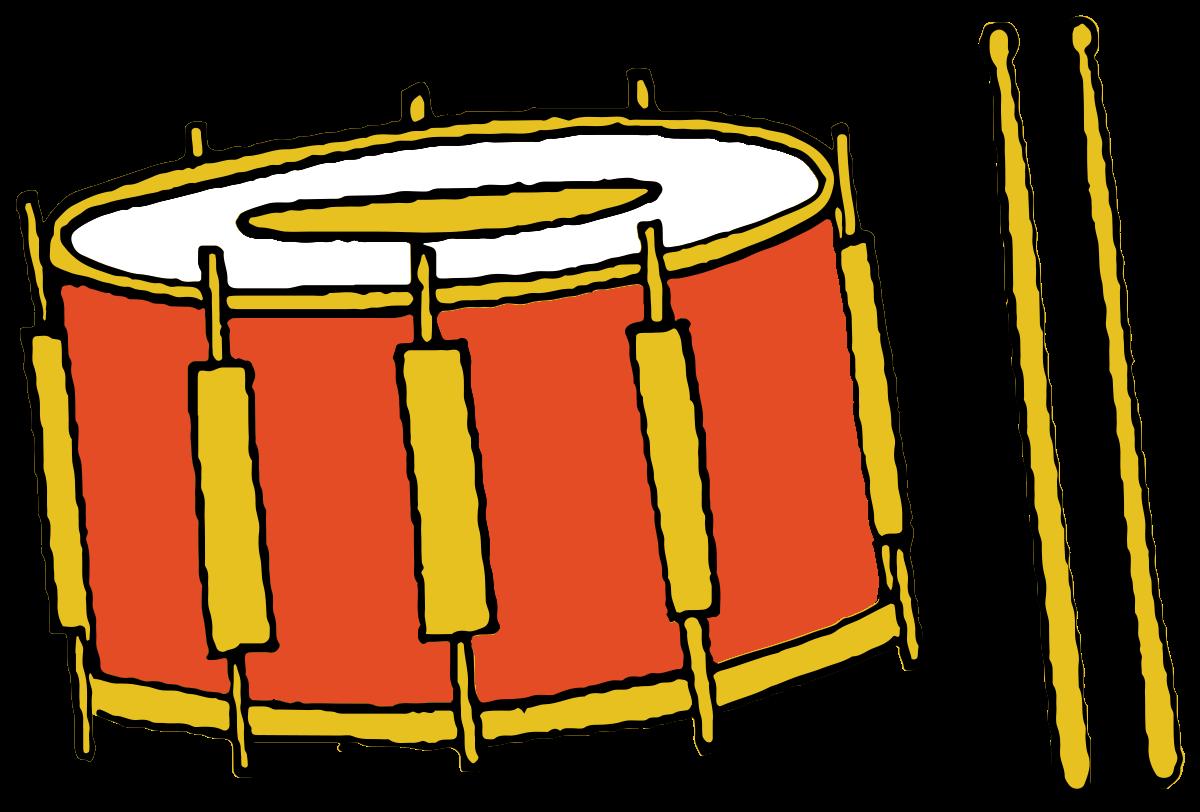 tamburo strumento musicale disegnato a mano png