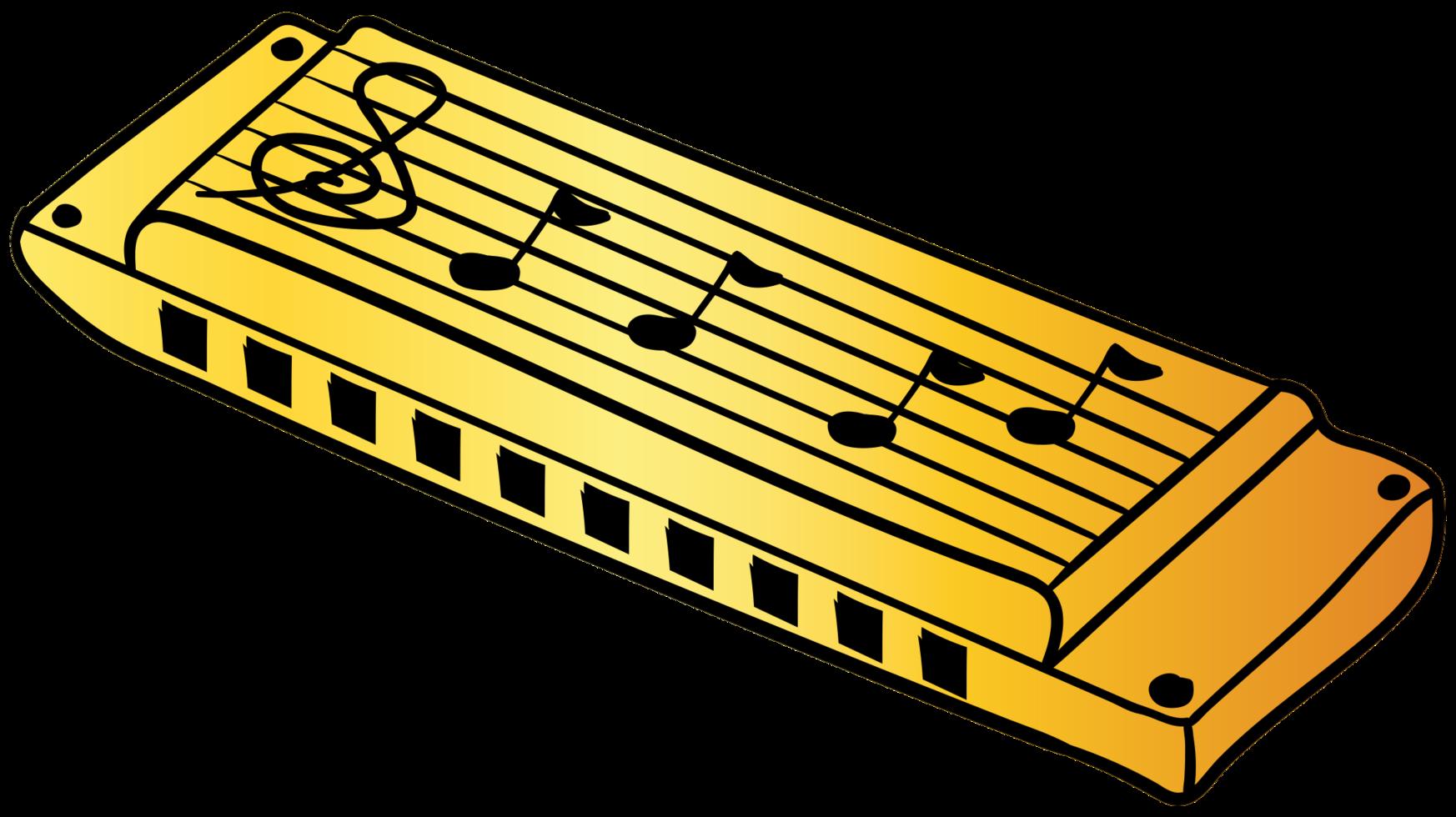 hand getekende mondharmonica png