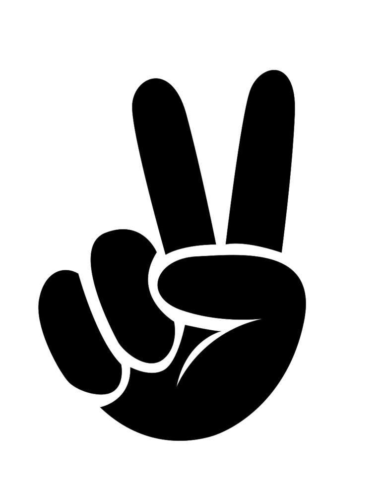 Friedensfingerzeichen png