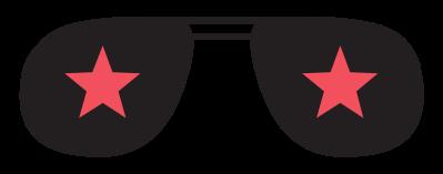 óculos de ícone da música rock png