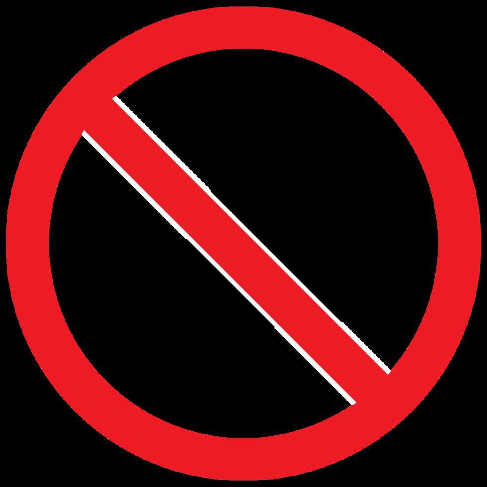 verboden teken geen vis png