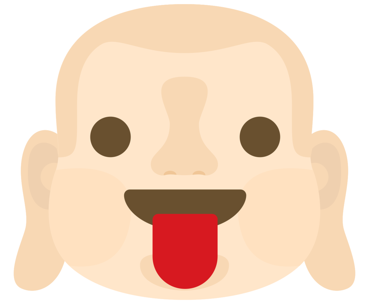 Emoji buddha face tounge png