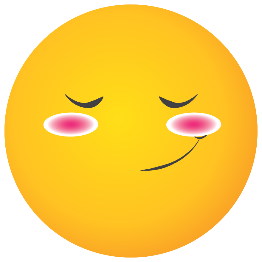emoji rosto amarelo corar png