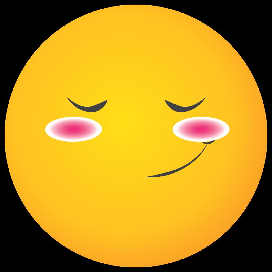 emoji gul ansikte rodna png