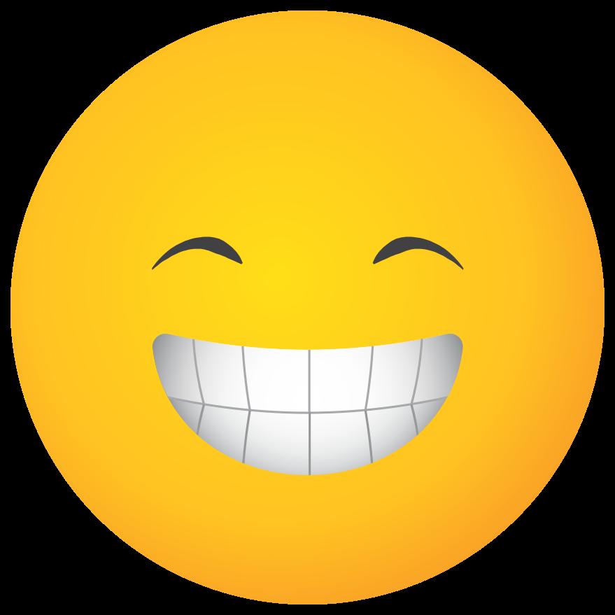 emoji gezicht grote glimlach png