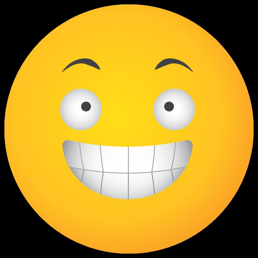 emoji rosto amarelo rir png