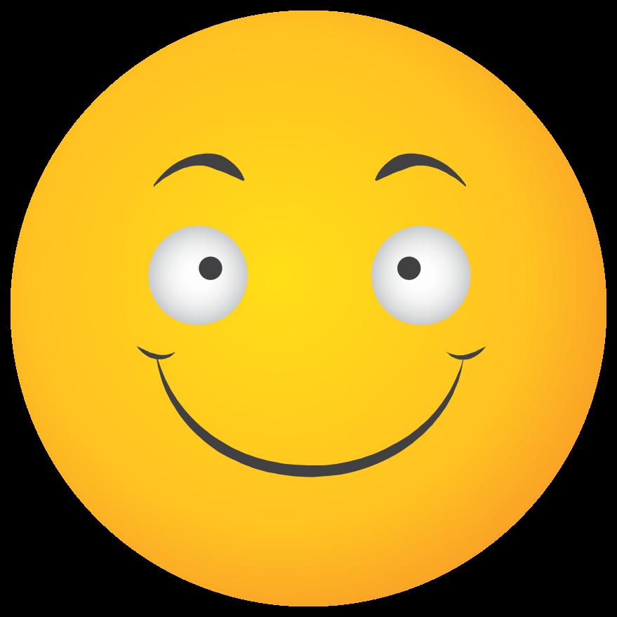 Emoji yellow face smile png