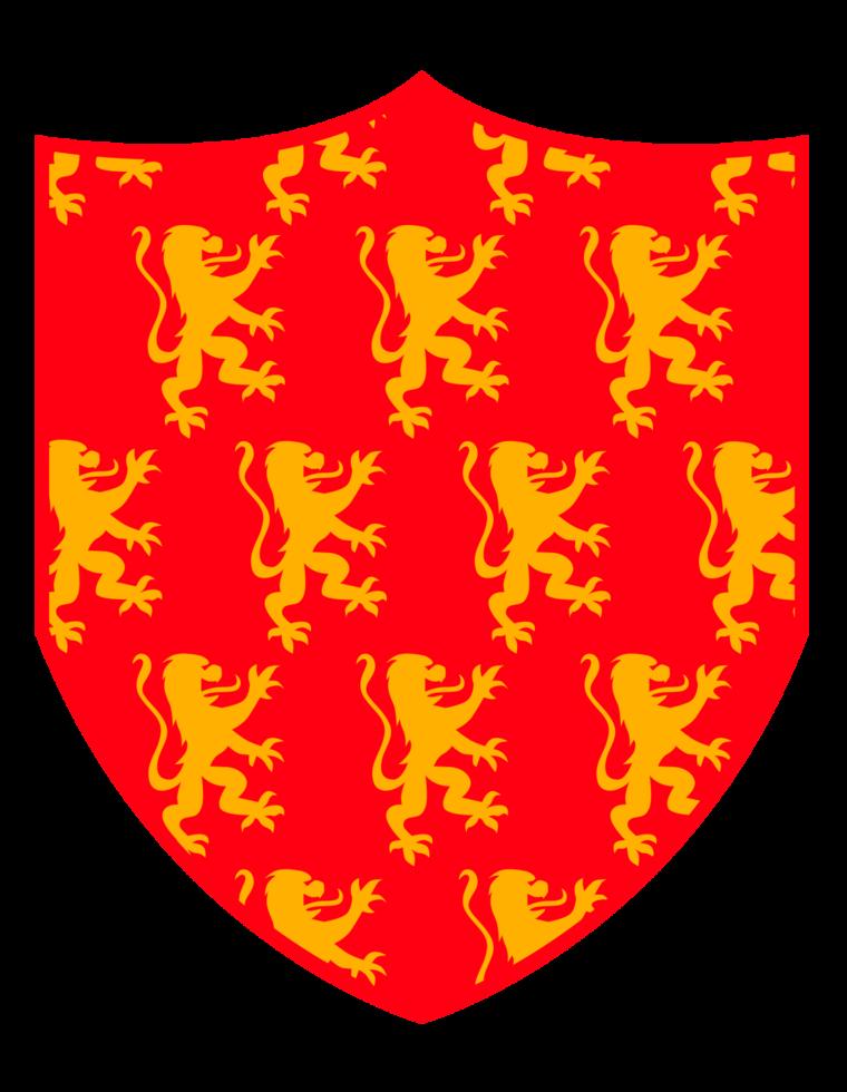 escudo escudo leão desenfreado png