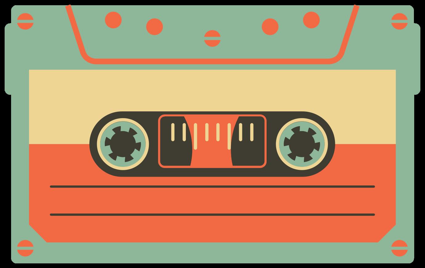 cinta de cassette vintage png