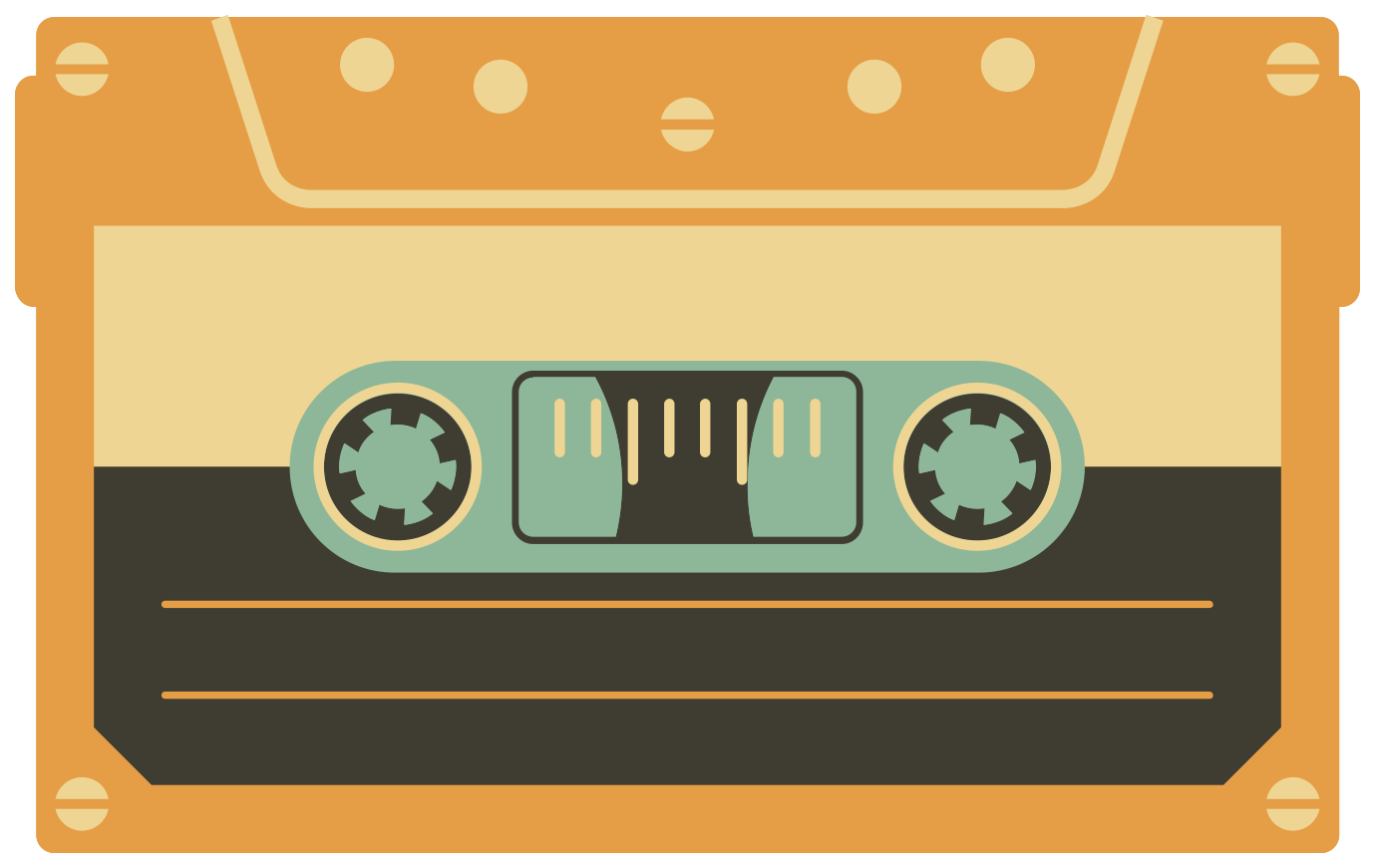 vintage cassettebandje png
