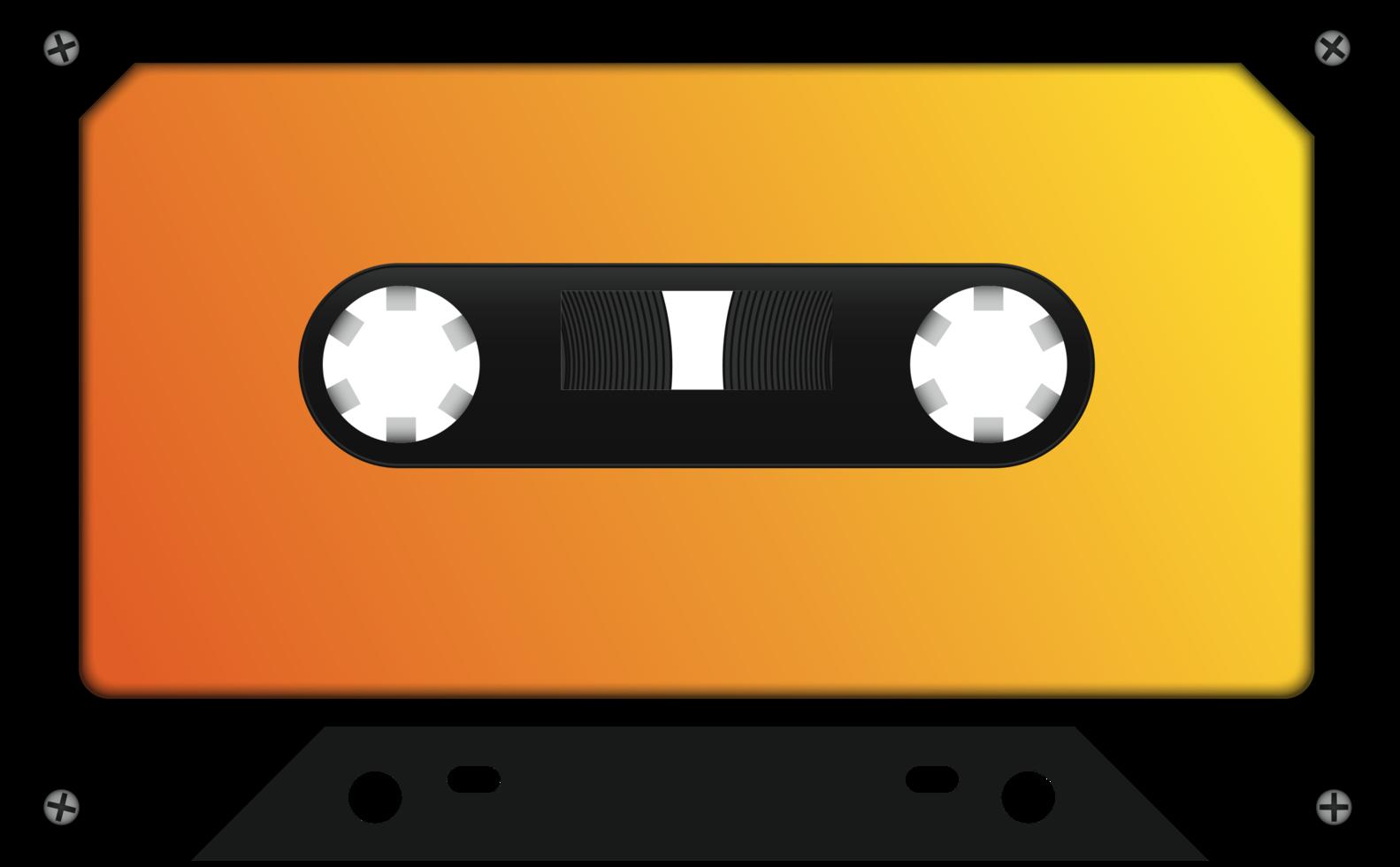 cinta de cassette realista png