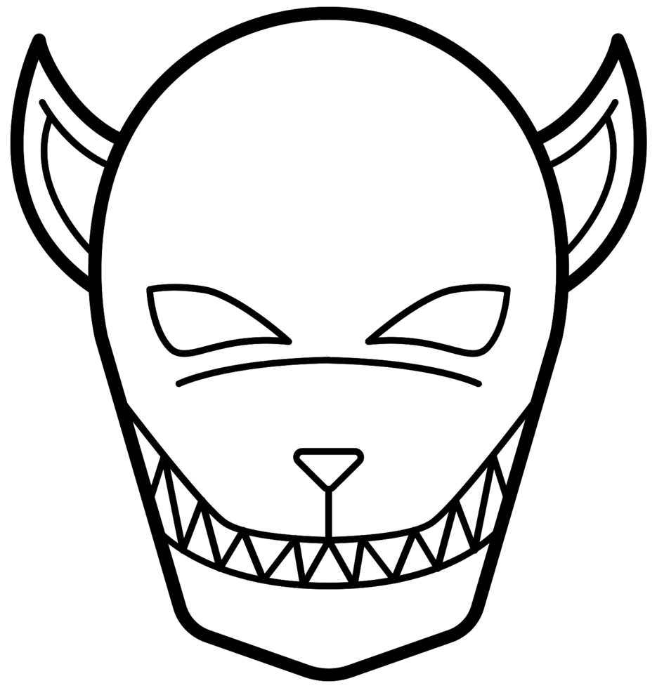 masque de loup-garou png