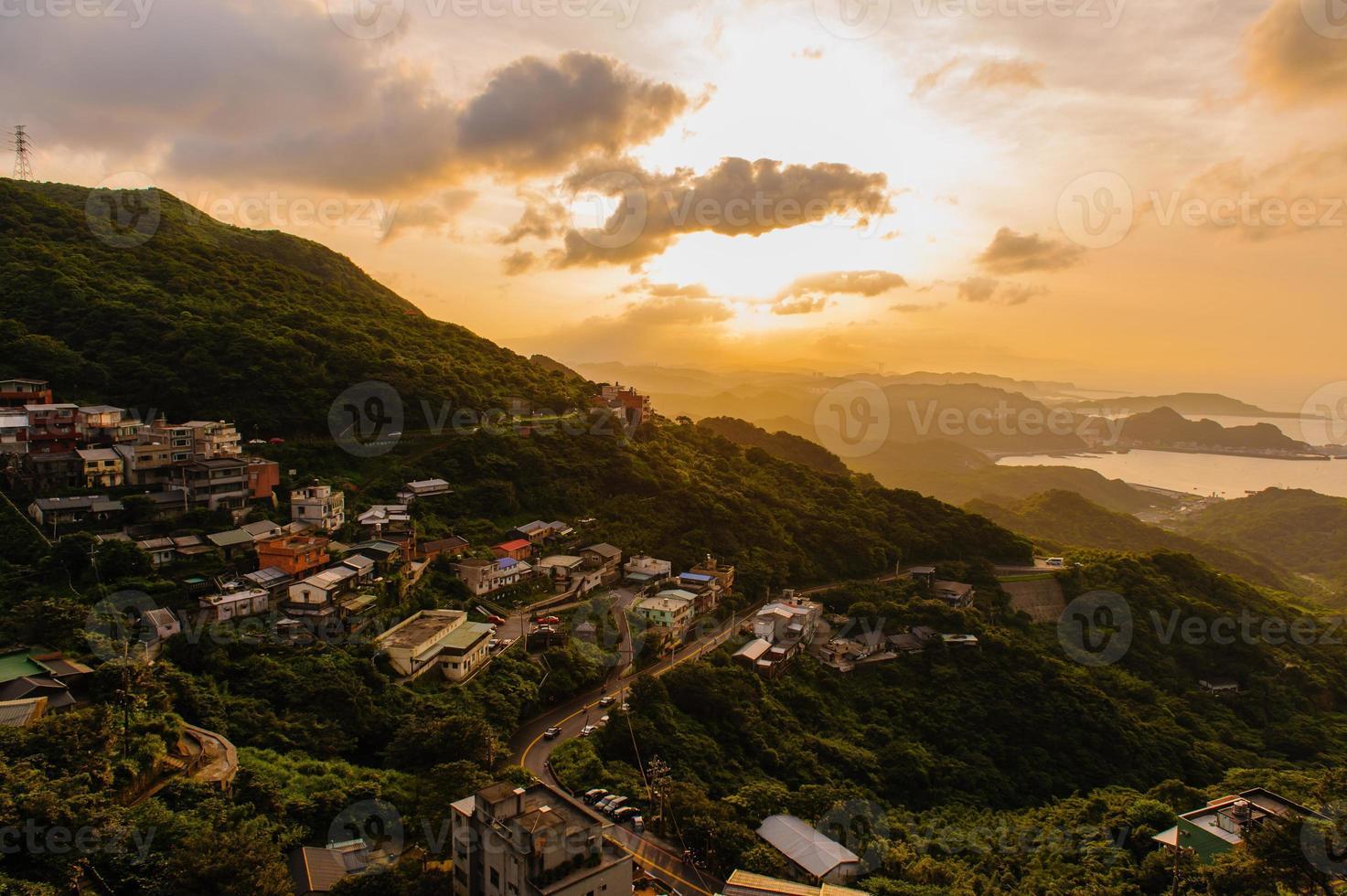 Jioufen village in Taipei photo