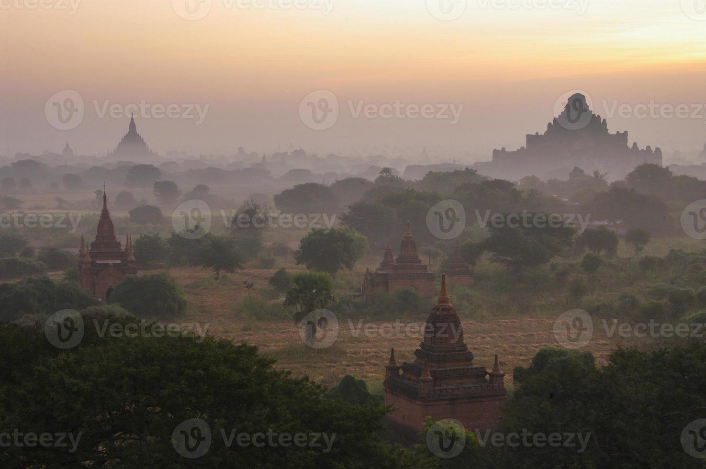 Temples of Bagan in early morning. Myanmar (Burma). photo