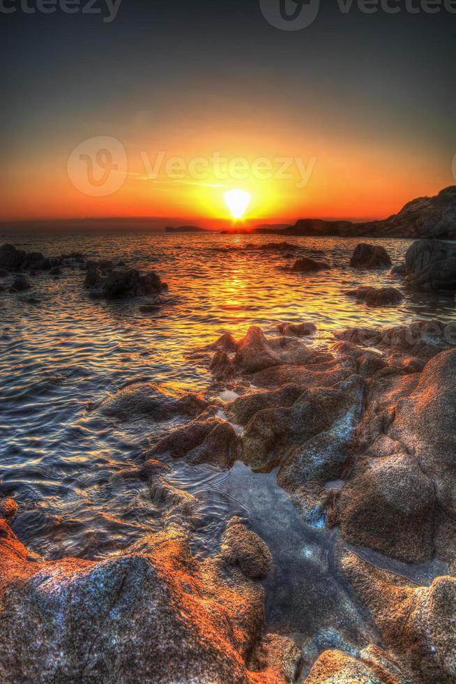 colorful sunset in hdr photo