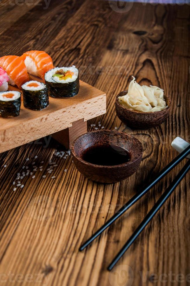 sushi japonés oriental foto