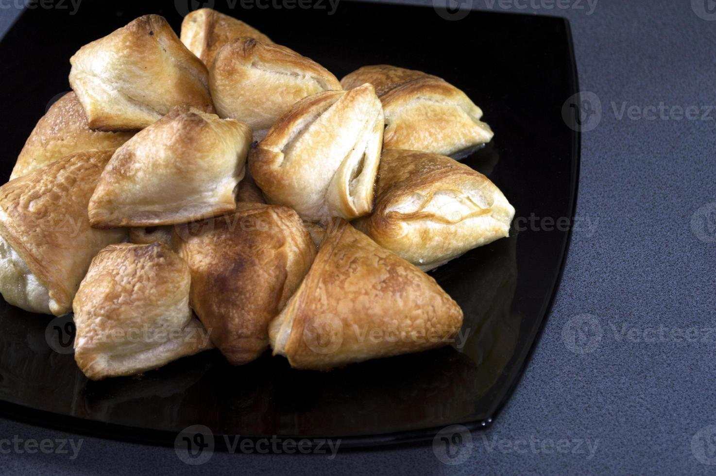 house pastries, dough with cottage cheese photo