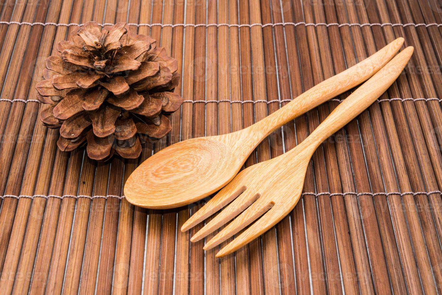 colher de madeira foto
