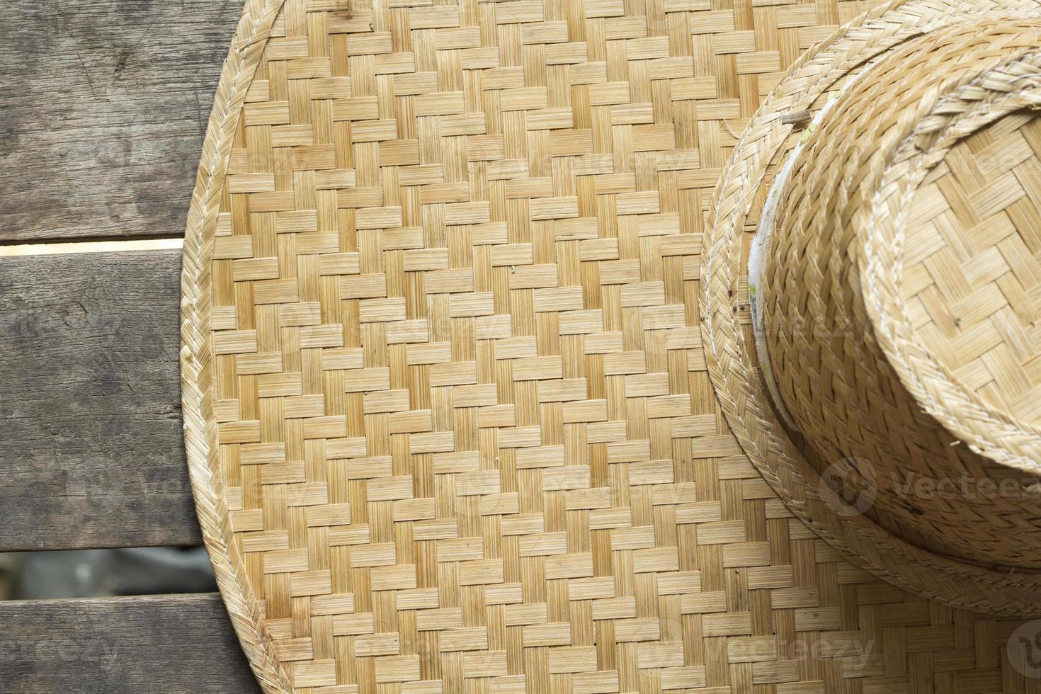 Fondo de artesanía de bambú foto