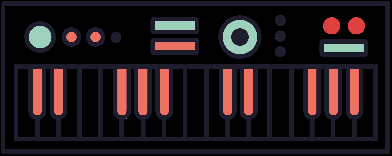 teclado de música midi png
