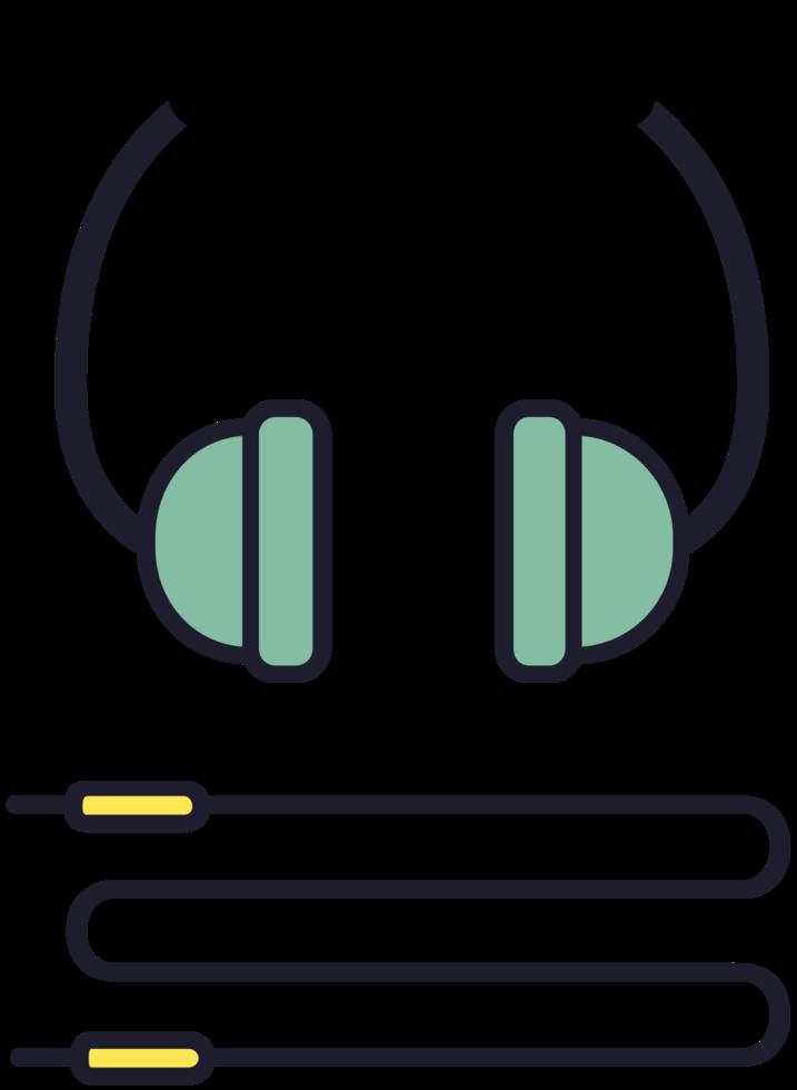 fone de ouvido de música png