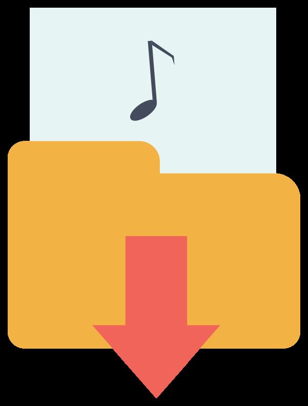 pasta de música png