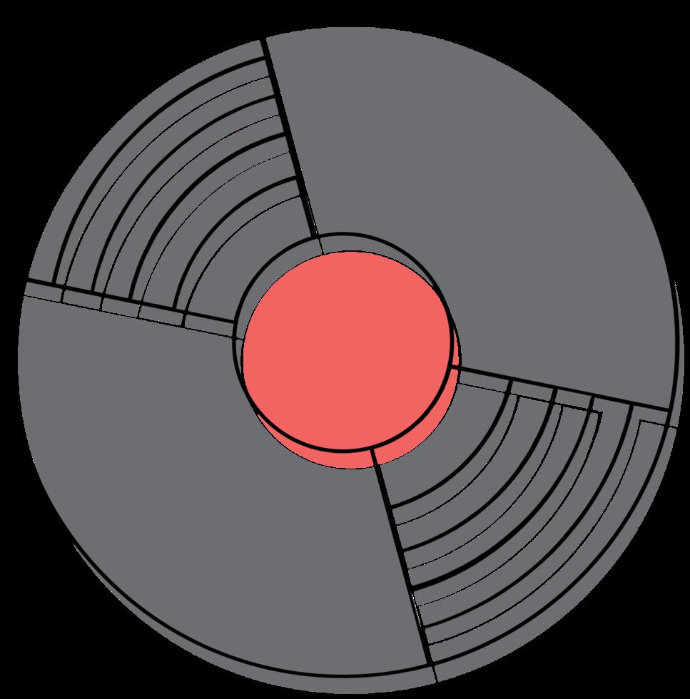 disco de vinil de música png