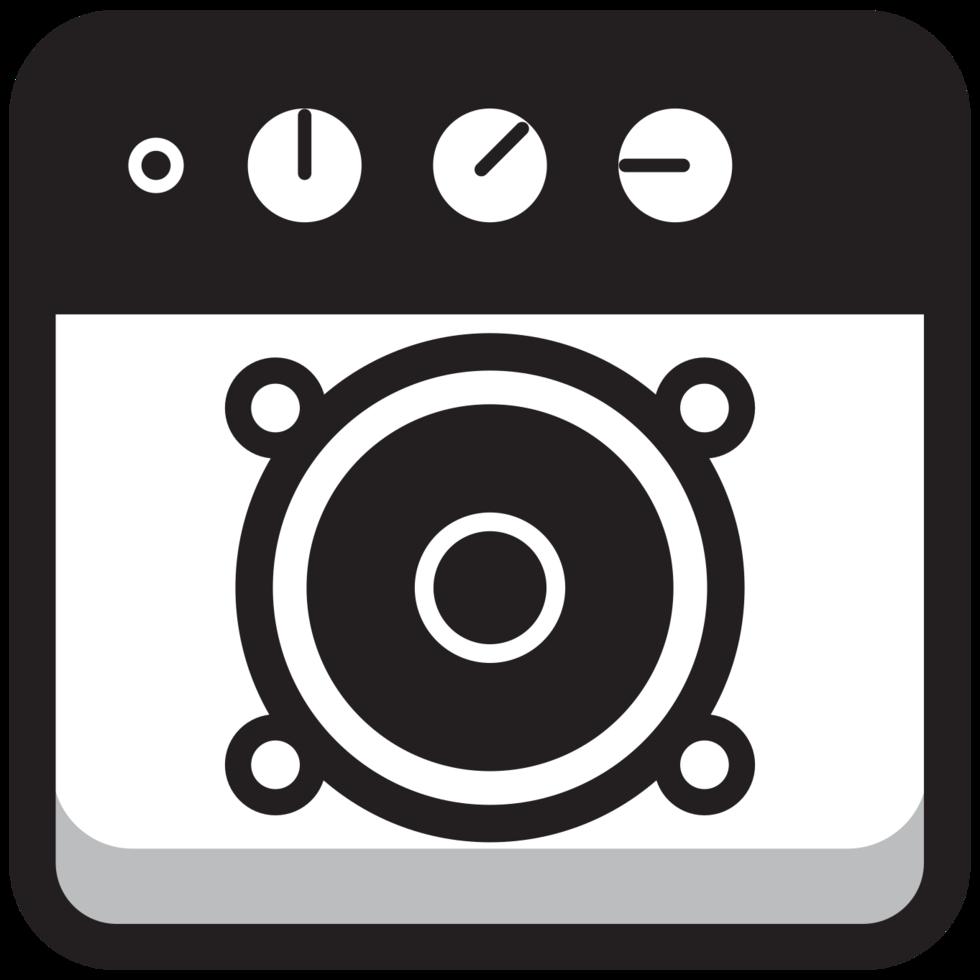 altoparlante icona rotonda musica quadrata png