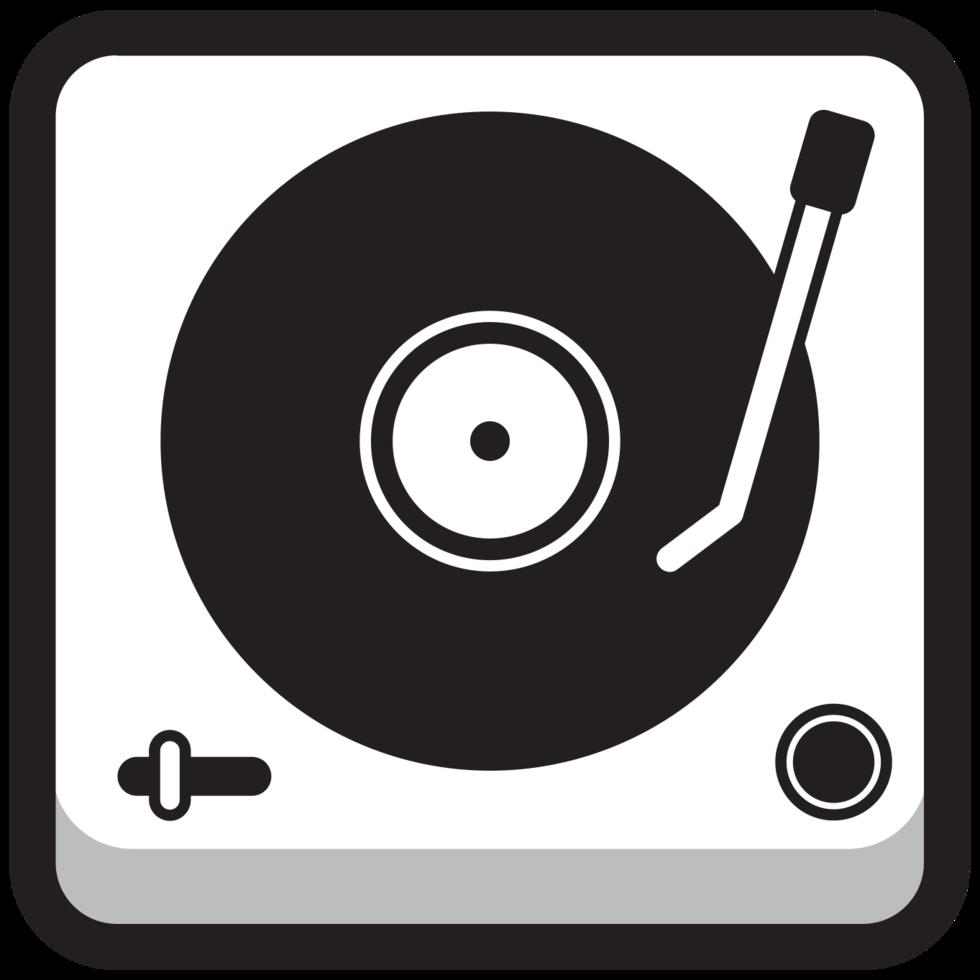 runde quadratische Musikikone DJ Turn Table png