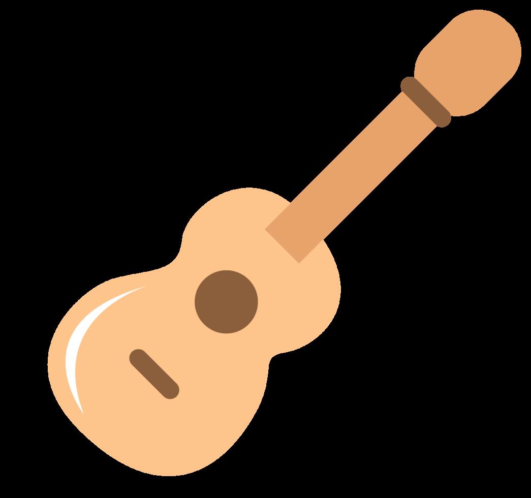 süße Musikikone Gitarre png