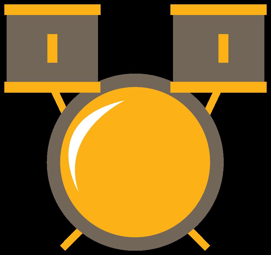 schattige muziek icoon drum png