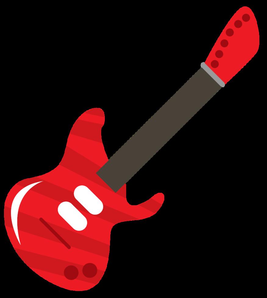 icono musical lindo guitarra eléctrica png
