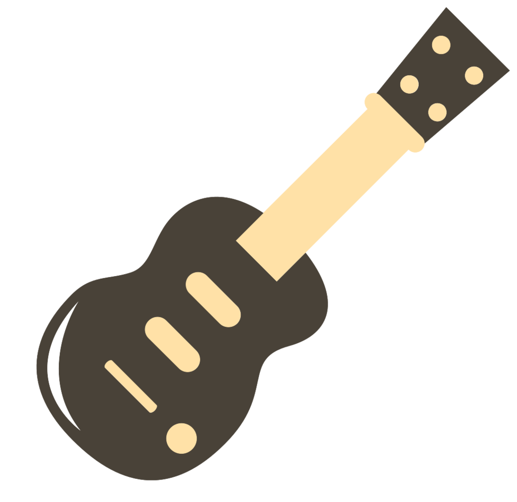 süße Musikikone Gitarrenklassiker png