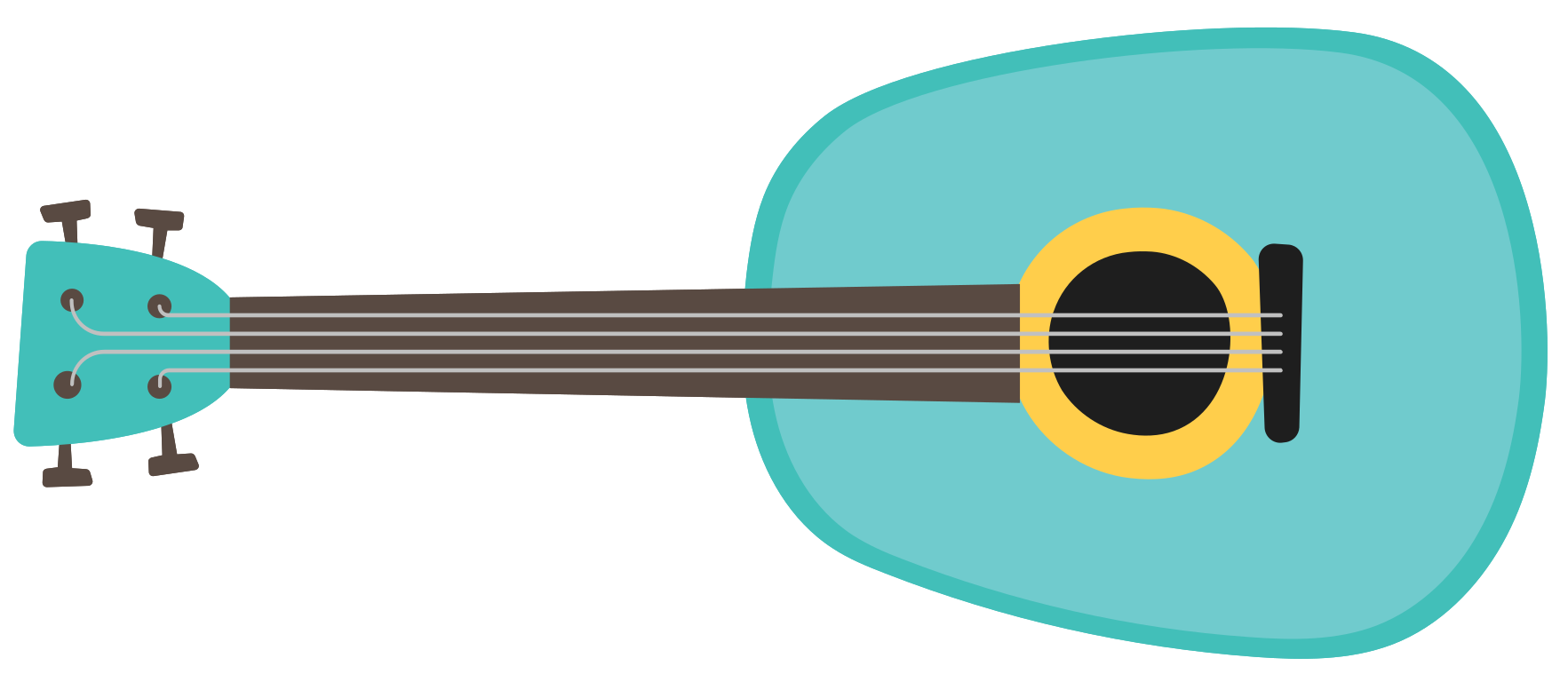 instrument de musique mini guitare png