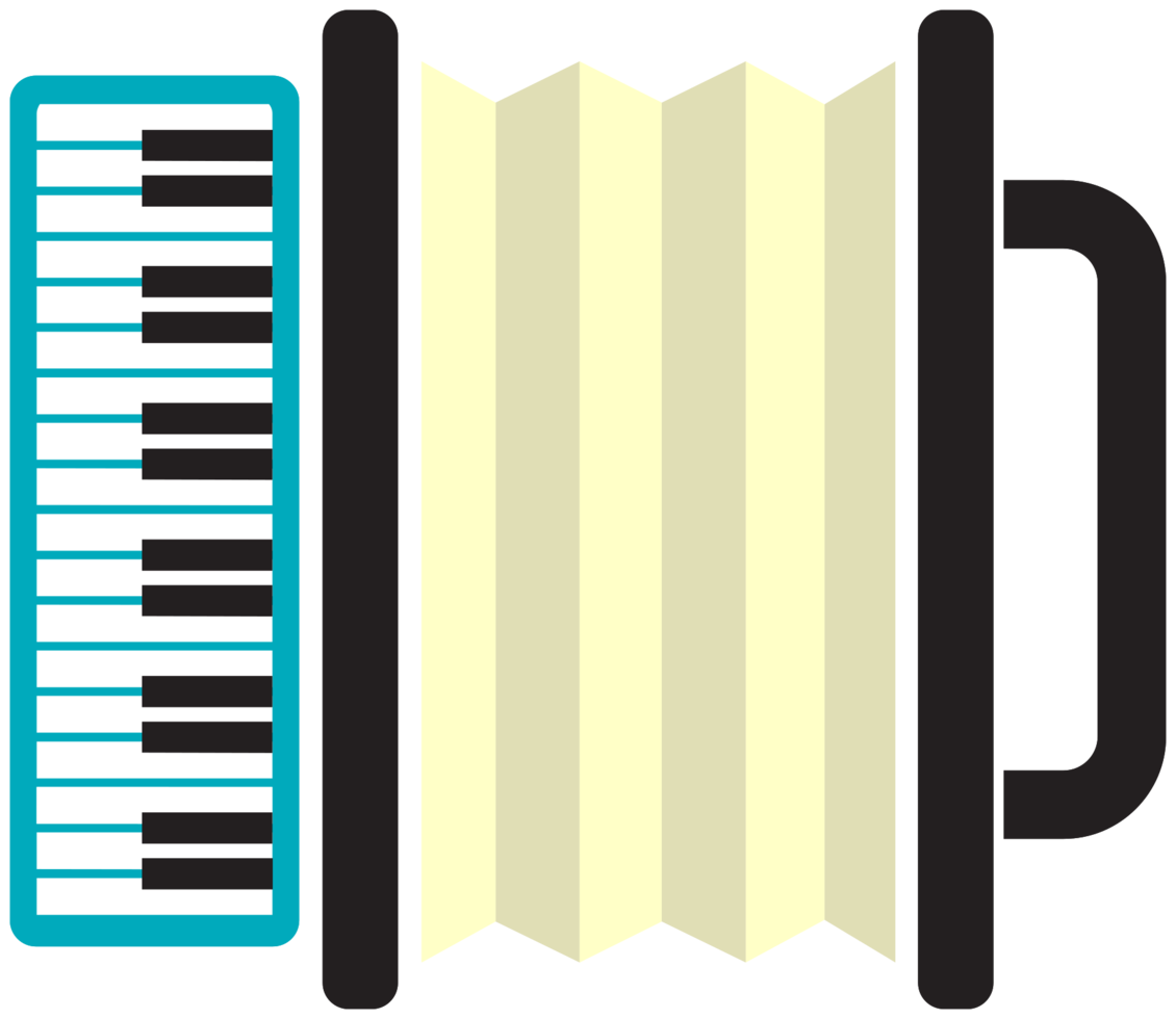 instrumento musical accrodion png