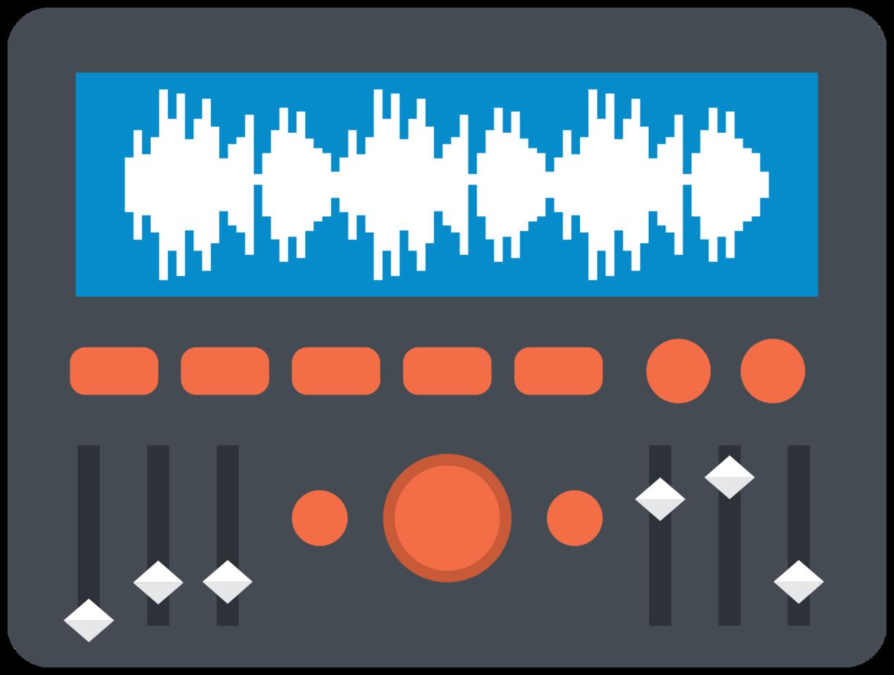 ecualizador de equipos de música png