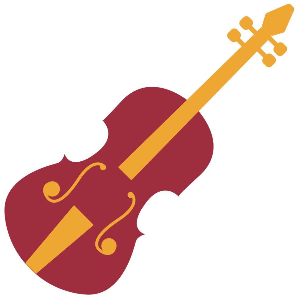 instrumento musical violino png