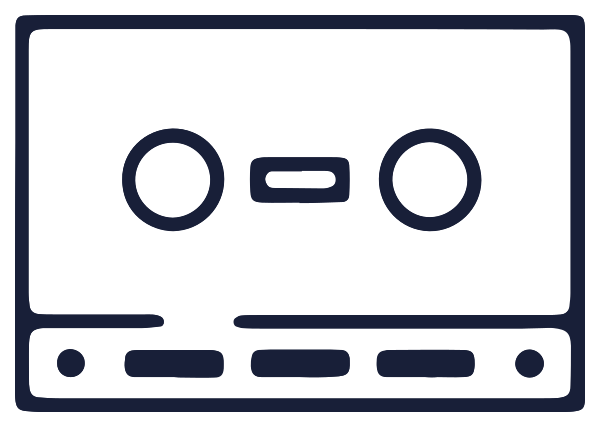 muziekapparatuur cassette png