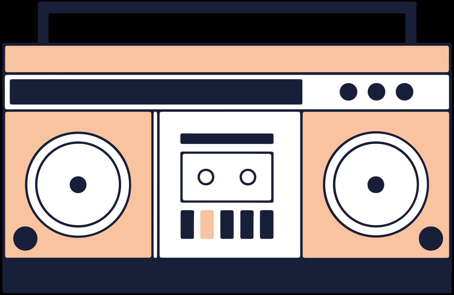 muziekapparatuur radio cassette png
