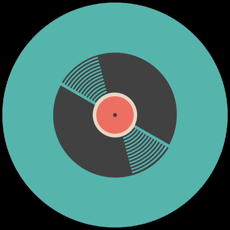 muziek plat pictogram vinyl record png