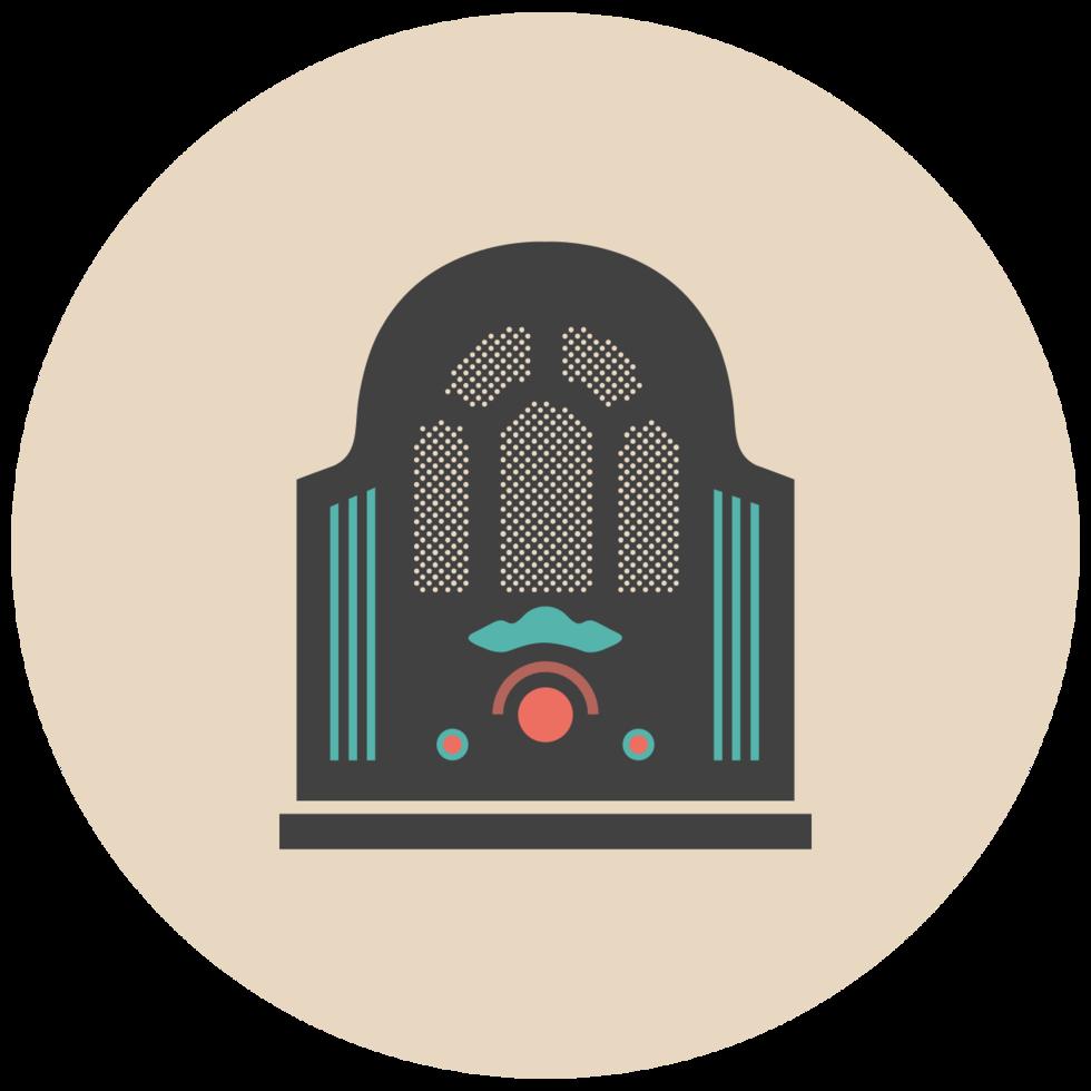 muziek platte pictogram jukebox png
