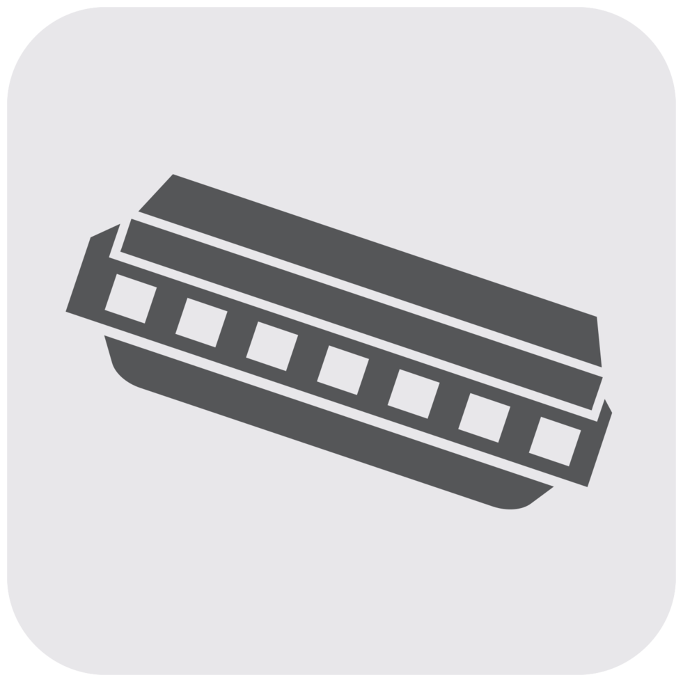 Music instrument icon harmonica png