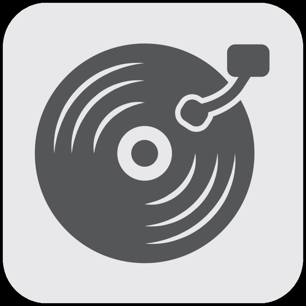 icona dello strumento musicale disco in vinile png