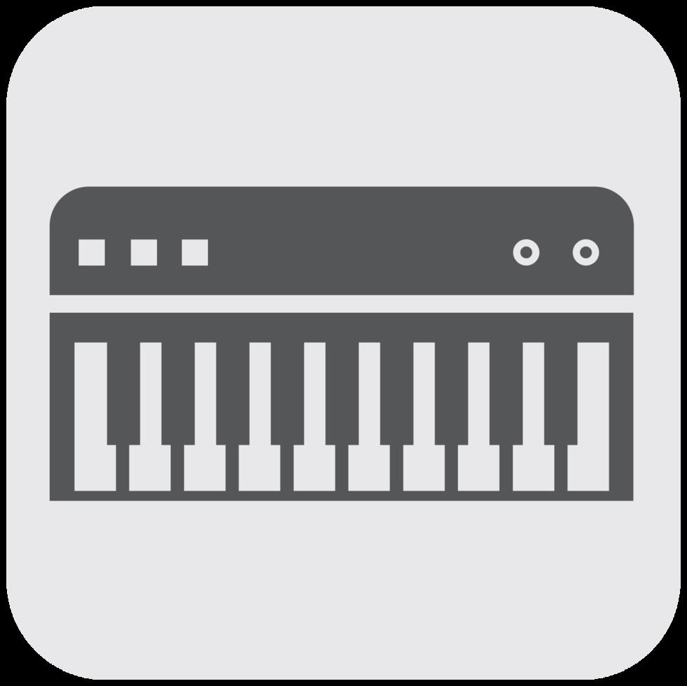 instrument de musique icône clavier piano png