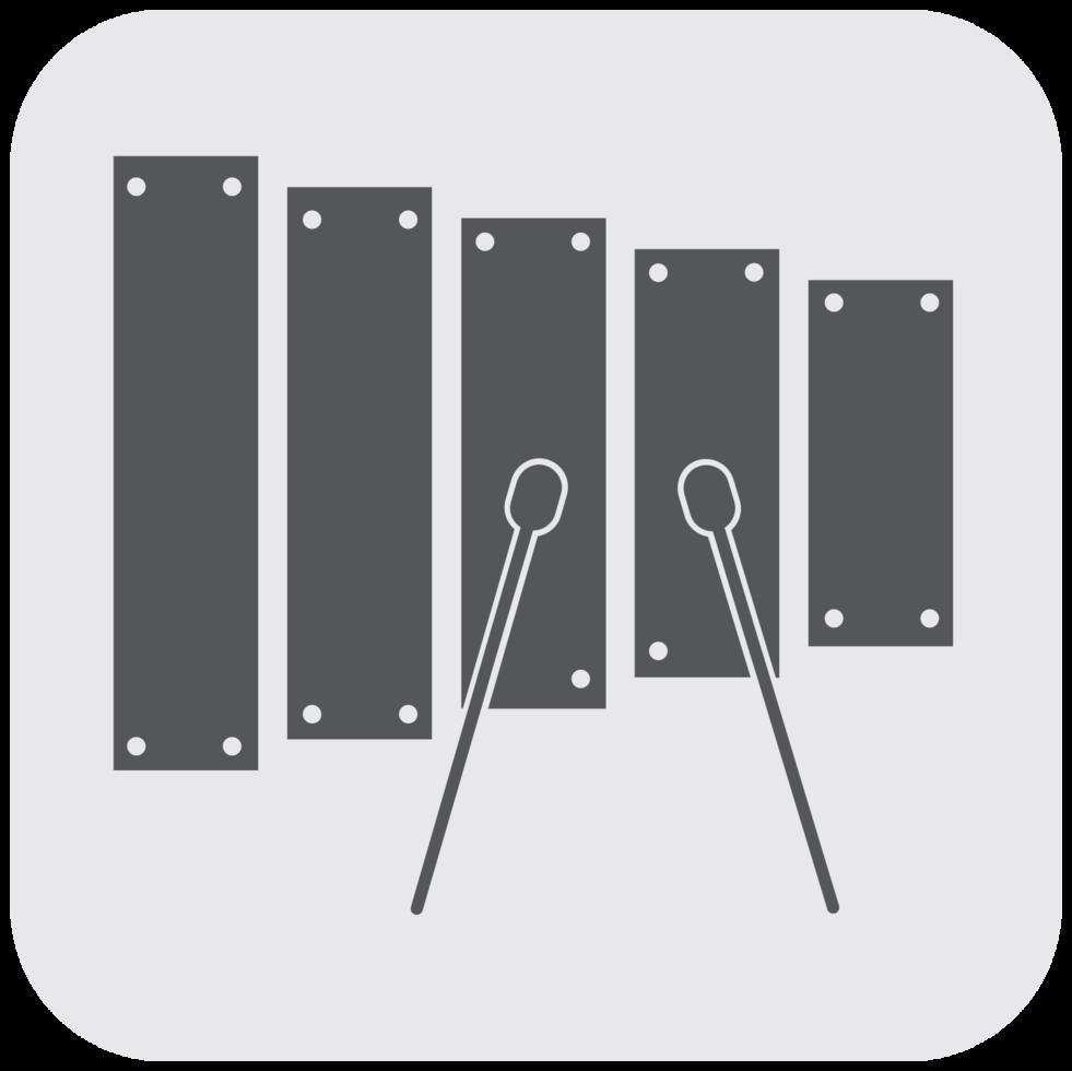 icono de instrumento musical xilófono png