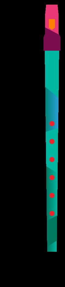 kleurrijke muziekinstrument fluit png