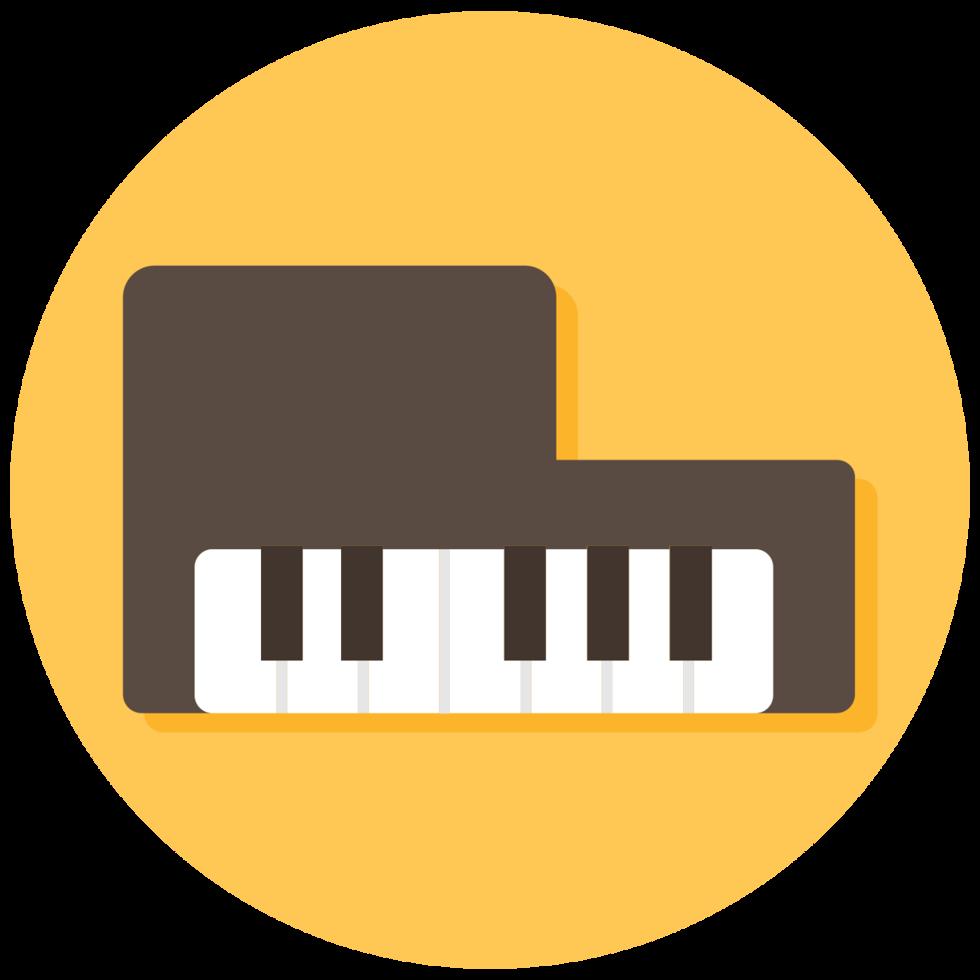 icona dello strumento musicale pianoforte png