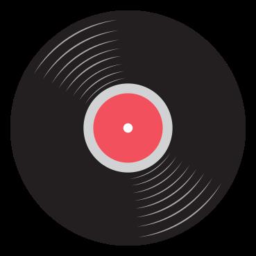 rockmusikikon vinylskiva png