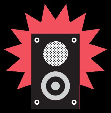 rock musik ikon högtalare png
