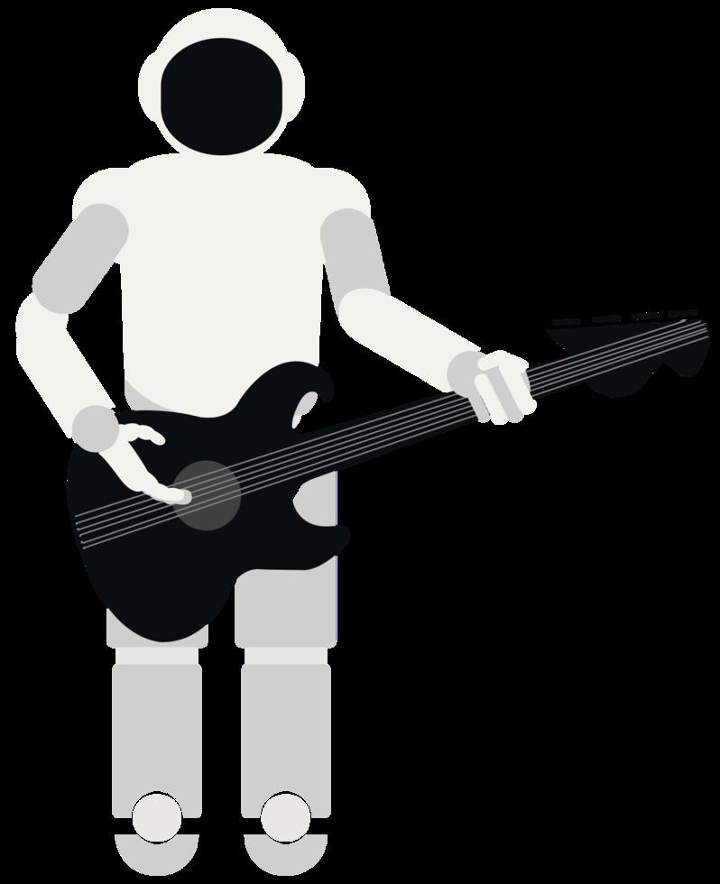 robot muziek gitaar spelen png